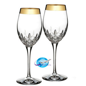 GoldBandWineGlassPair