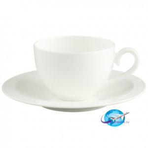villeroy-boch-White-Pearl-Kaffee-Teetasse-mit-Untertasse-2tlg