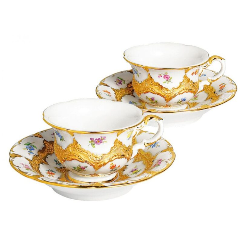 COLLECTION B-SHAPE Strewn Flowers with gold Bronze